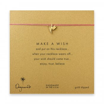 make+a+wish+hummingbird+necklace+on+coral%2C+gold+dipped