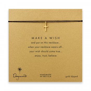 make+a+wish+simple+cross+necklace+on+black%2C+gold+dipped