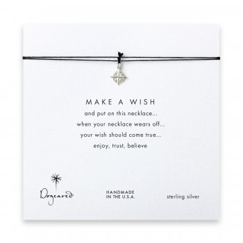 make+a+wish+compass+necklace+on+black%2C+sterling+silver