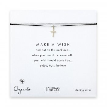 make+a+wish+simple+cross+necklace+on+black%2C+sterling+silver