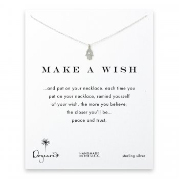 make a wish hamsa necklace, sterling silver
