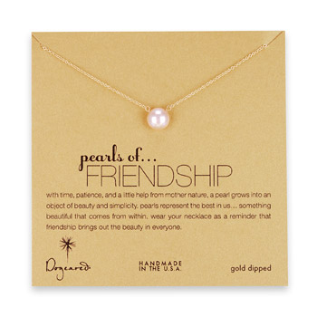large+pearls+of+friendship+pink+pearl+necklace%2C+gold+dipped+-+18+inch
