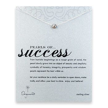 pearls of success sterling silver necklace with gray pearl
