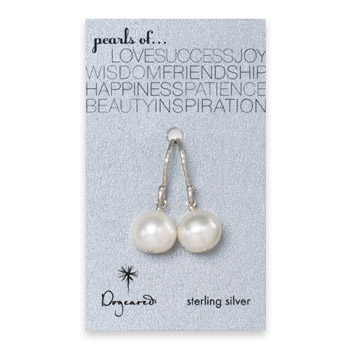 large white pearl earrings, sterling silver