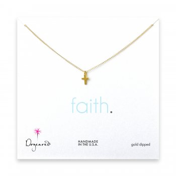small+cross+pendant+necklace%2C+gold+dipped