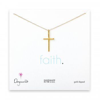 large cross pendant necklace, gold dipped
