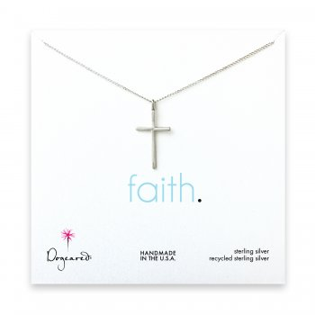 large cross pendant necklace, sterling silver