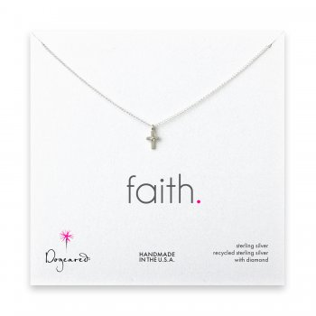 small+diamond+cross+necklace%2C+sterling+silver