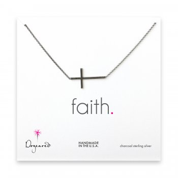 large+sideways+cross+necklace%2C+charcoal