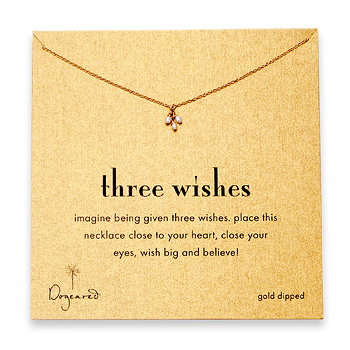 three wishes gold dipped necklace