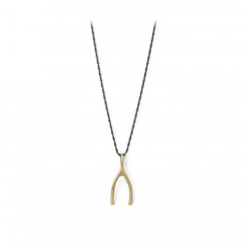 charmed+necklace%2C+big+wishbone+on+charcoal+silver+chain