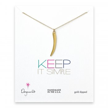 keep+it+simple+gold+dipped+necklace+with+large+horn