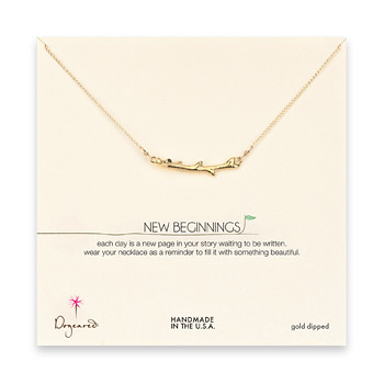 new beginnings gold dipped branch necklace - 18 inches