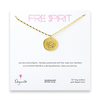 free+spirit+gold+dipped+lotus+necklace+-+32+inches