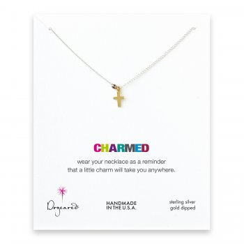 cross+necklace+with+rose+gold+bead+on+silver+chain