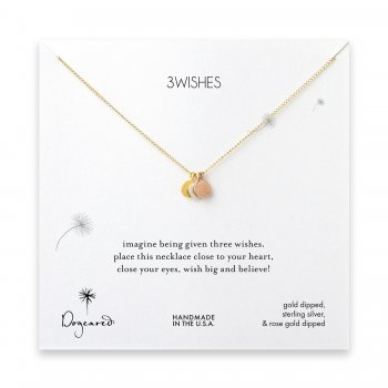 3 wishes circles necklace - gold, rose gold, sterling silver