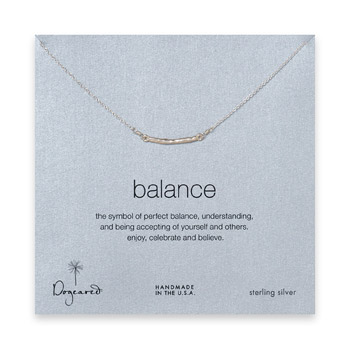 balance bar necklace, sterling silver