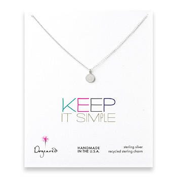 keep it simple sterling silver circle necklace