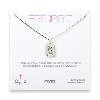 free+spirit+sterling+silver+scarab+necklace+-+32+inches