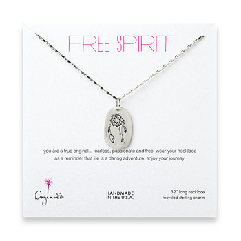 free+spirit+sterling+silver+dream+catcher+necklace+-+32+inches