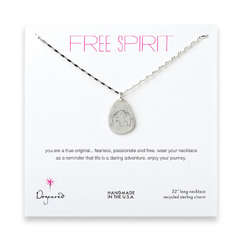 free+spirit+sterling+silver+elephant+necklace+-+32+inches