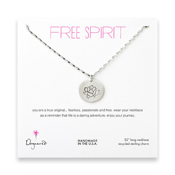 free+spirit+sterling+silver+lotus+necklace+-+32+inches