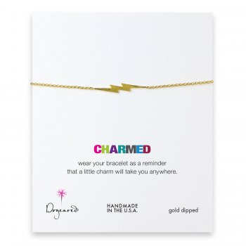 charmed big bolt bracelet, gold dipped