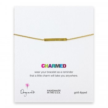 charmed large bar bracelet, gold dipped