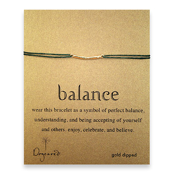 balance bar bracelet gold dipped on leaf irish linen