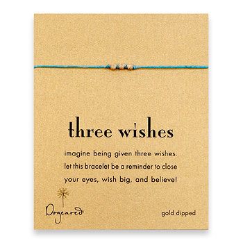 three+wishes+stardust+bead+bracelet+on+turquoise+irish+linen%2C+gold+dipped