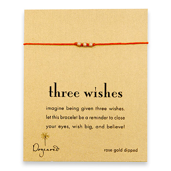 three+wishes+stardust+bead+bracelet+on+burnt+orange+irish+linen%2C+rose+gold+dipped