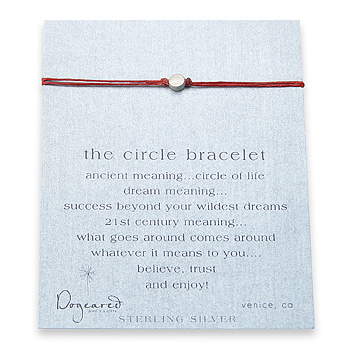 circle+bracelet+sterling+silver+on+red+irish+linen