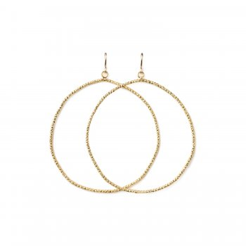 always beautiful sparkle hoop earrings, gold dipped