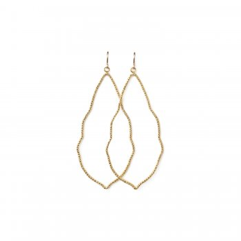 always beautiful sparkle moroccan earrings, gold dipped