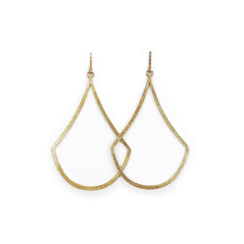 always beautiful swing gold dipped earrings