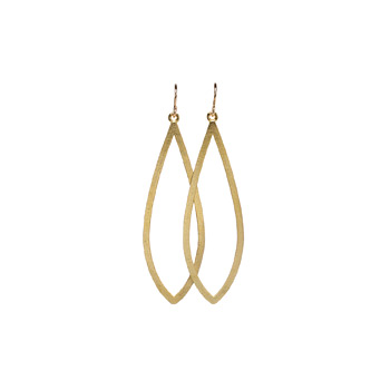 always beautiful petal gold dipped earrings