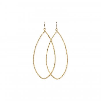 always beautiful sparkle marquise earrings, gold dipped