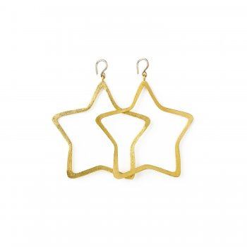 always+beautiful+star+earrings%2C+gold+dipped