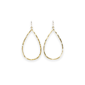 always beautiful gold dipped large teardrop earrings