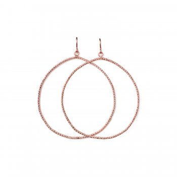 always beautiful sparkle hoop earrings, rose gold dipped