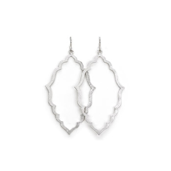 always beautiful moroccan earrings, silver dipped