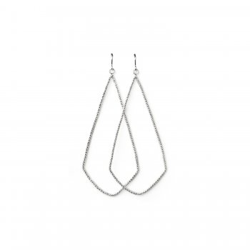 always beautiful sparkle swing earrings, sterling silver