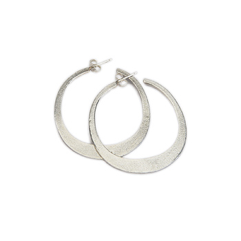 daily wear sterling silver hoop earrings