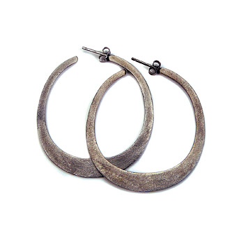 daily wear charcoal hoop earrings