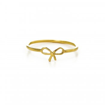 small+bow+ring%2C++gold+dipped%2C+size+5