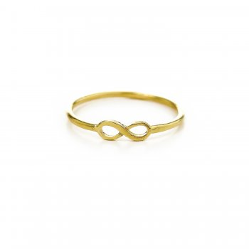 infinity ring, gold dipped, size 6
