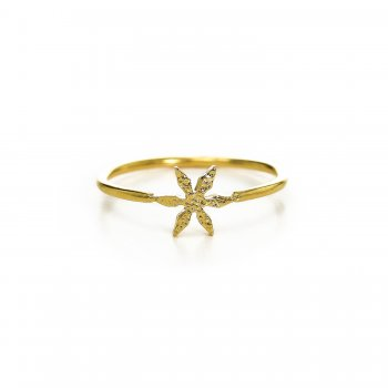 flower ring, gold dipped, size 6