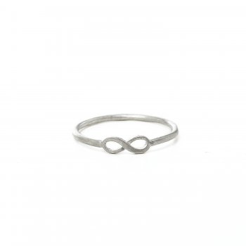 infinity ring, sterling silver, size 5