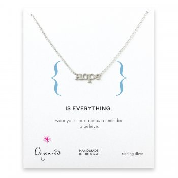 hope necklace, sterling silver