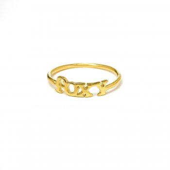 foxy ring, gold dipped, size 5
